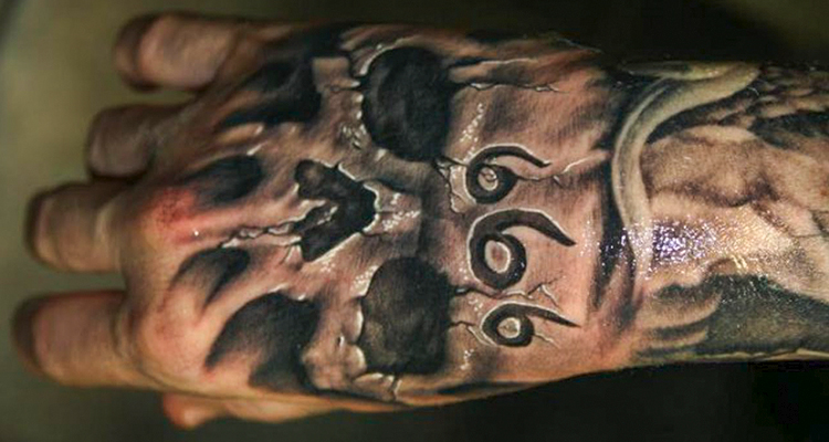 skull on your hand tattoo