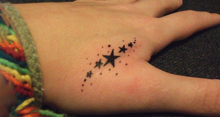 star on your hand tattoo