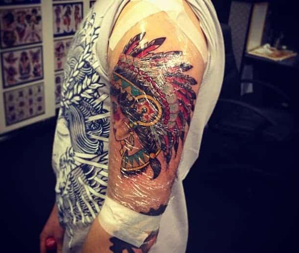 covered tattoo