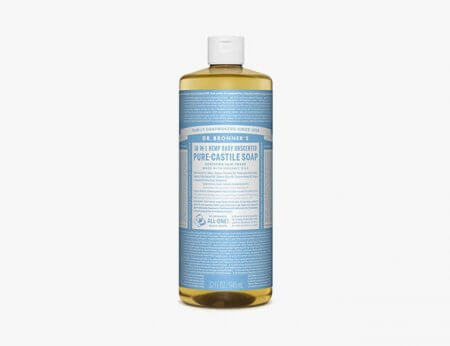 Dr. Bronner's Pure-Castile Liquid Soap used on Tattoo