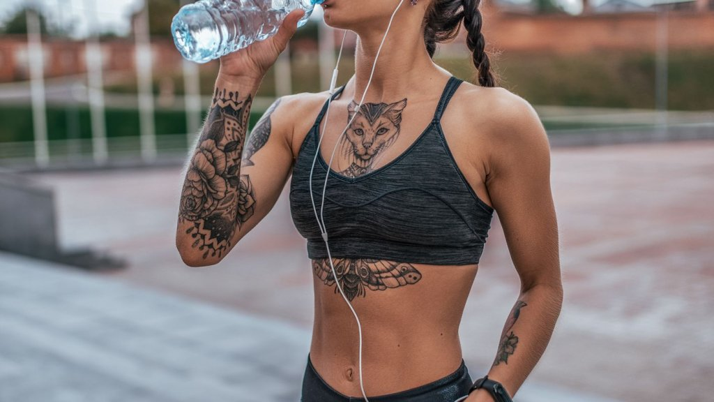 workout tattoo girl