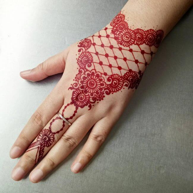 Red Henna Tattoos