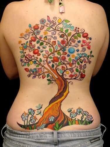 Back Tattoo Girl