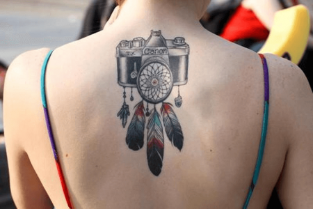 Camera Tattoo ideas on back in 2020