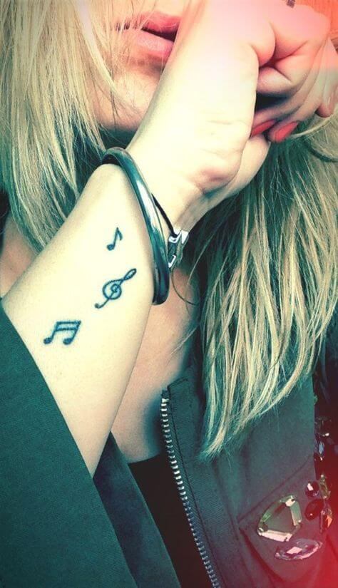 Music Notes Tattoo in2020