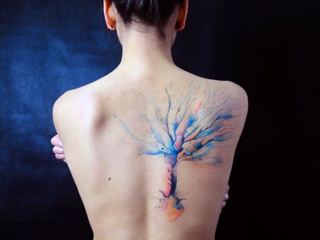 Back Tree Tattoo Designs