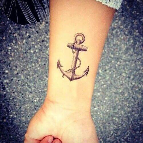 Anchor Hand Tattoo art