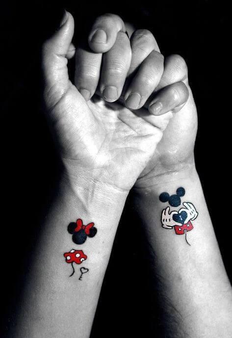 Best Cartoon Couple Tattoos