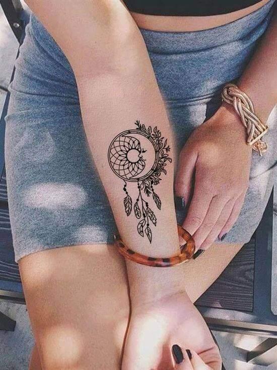 Best Dream catcher tattoo for girls on hand
