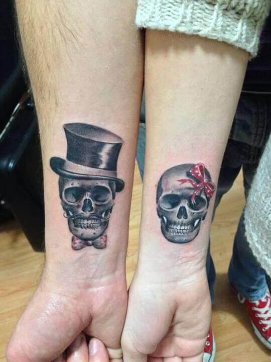 Skull Couple Tattoos