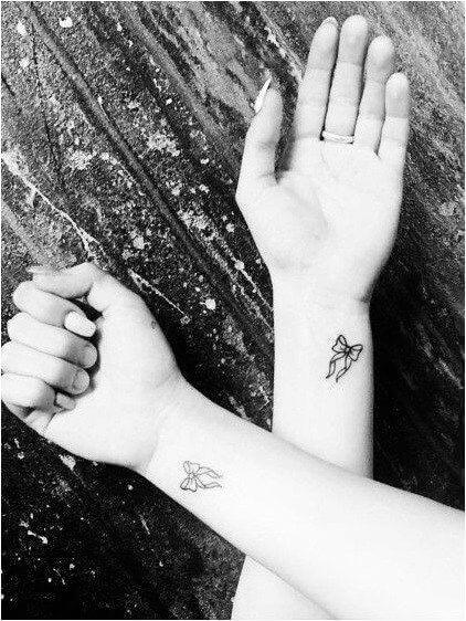 Black & White Bow Tattoos
