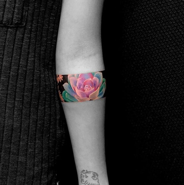 Colorful armband tattoo designs 2020