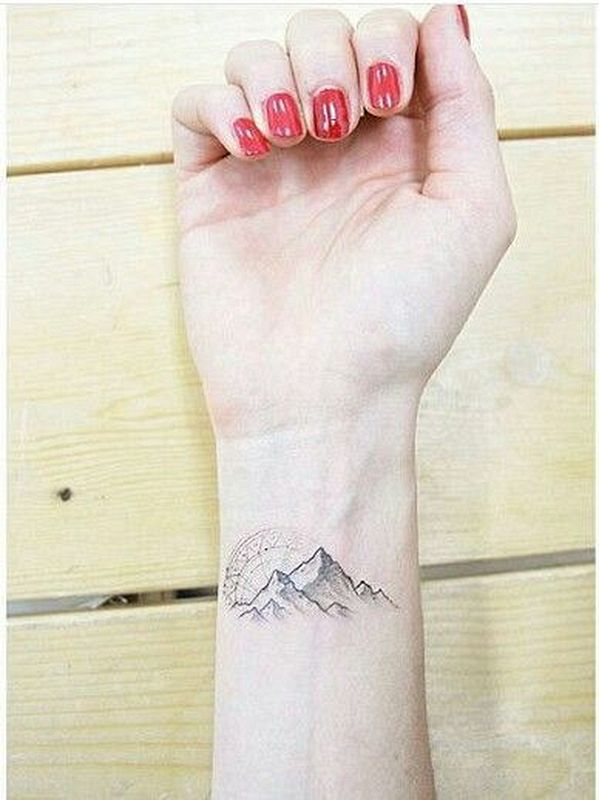 Landscape Hand Tattoo for women