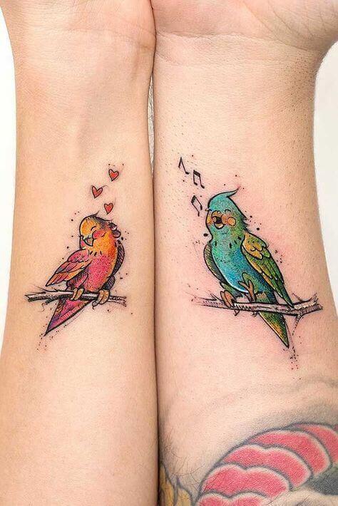 Love Birds Couple Tattoos 2020