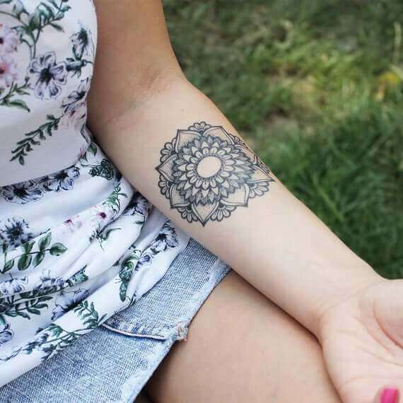 Mandala Tattoo girl