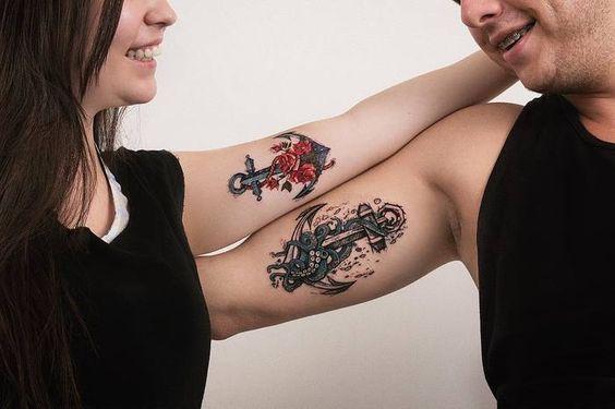 Nautical matching tattoo