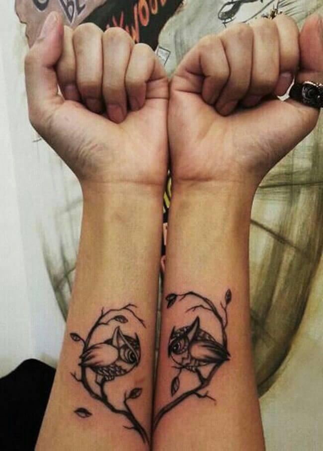 Owl Couples Tattoo idea