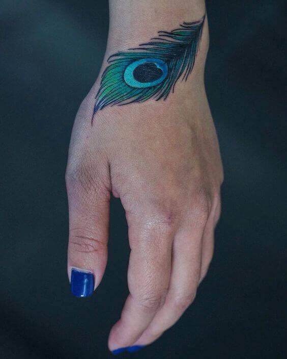 Peacock Feather tat