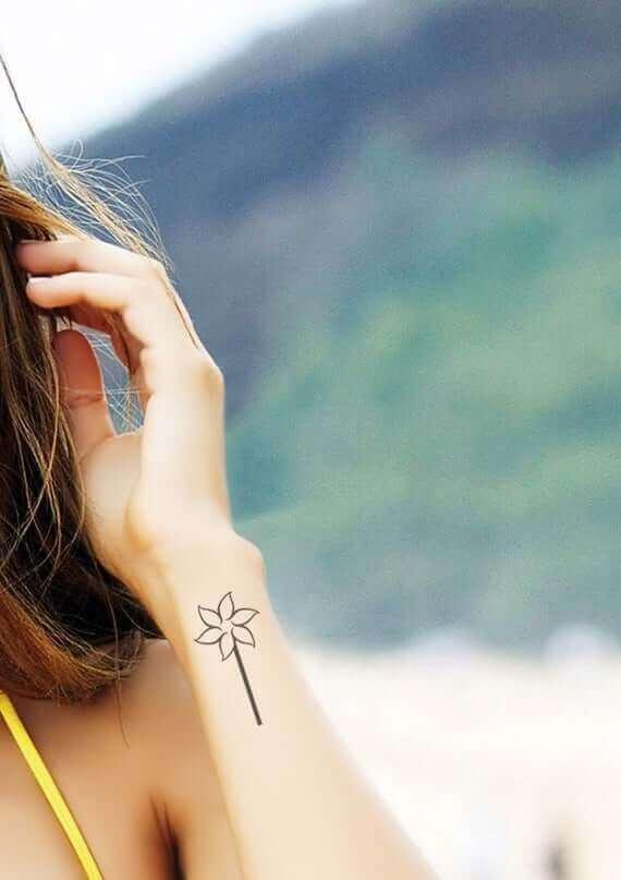 Pinwheel girl tattoos