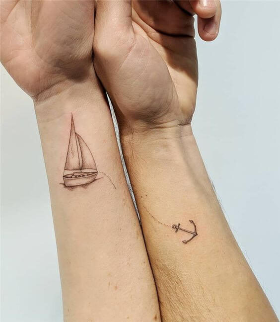 Ship Couple Tattoo