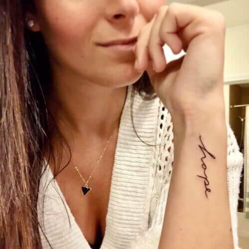 Word Hand Tattoos ideas