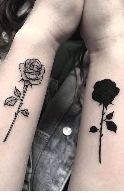 Beautiful Black rose tattoos