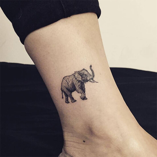 Best Small and minimalist elephant tattoo designs