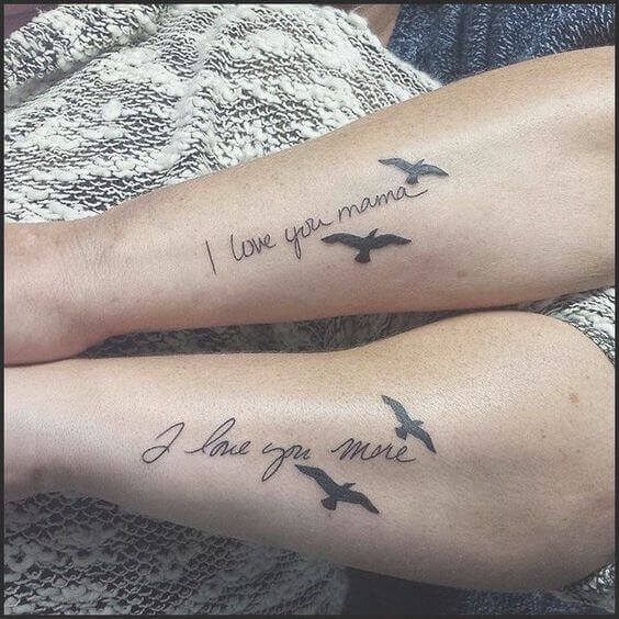 Like mother daughter tattoos