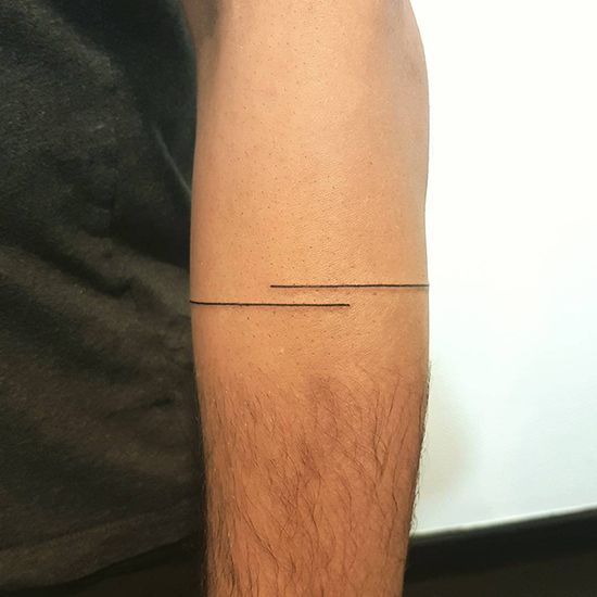 Minimalist double line ink