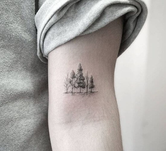 Minimalist tree nature tattoo designs