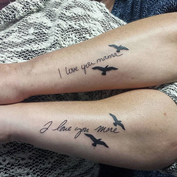 Mother Daughter Love Tattoo
