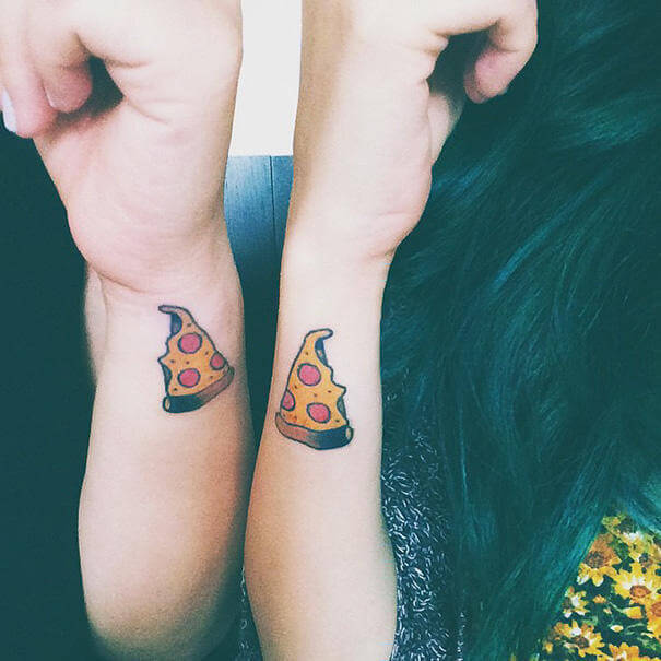 Pizza Tattoo design on wrist