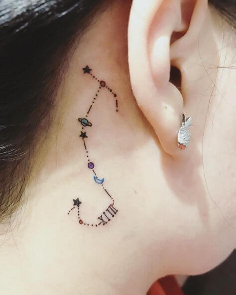 Scopion Constellation tattoos