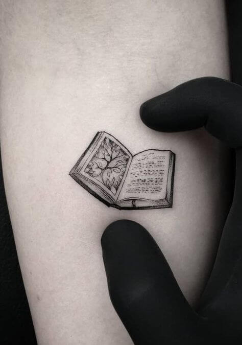 mini book tattoo art