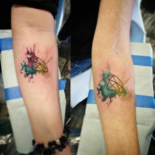 mother daughter diamond tattoos