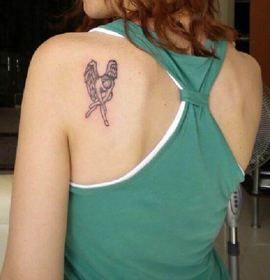 Angel small shoulder Tattoo
