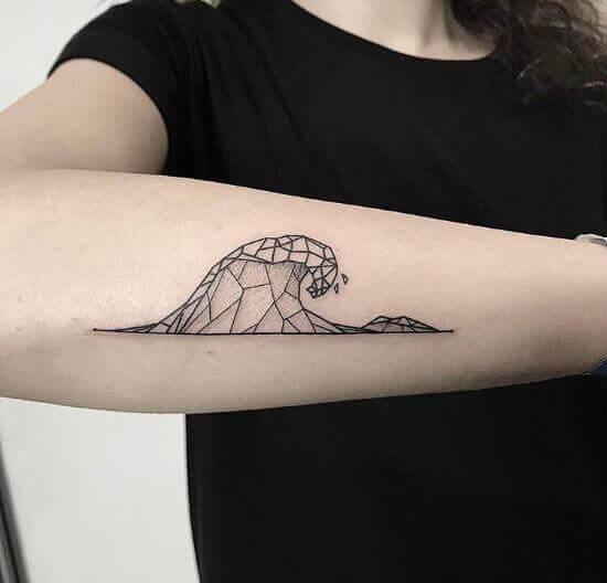 Geometric wave tattoo designs