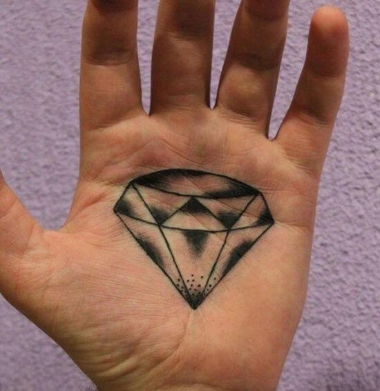 Diamond Tattoo Designs in Palm