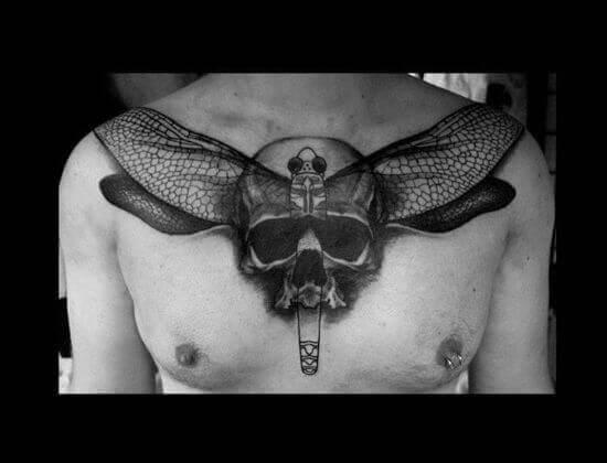 Dragonfly Skull Tattoo Designs 2021