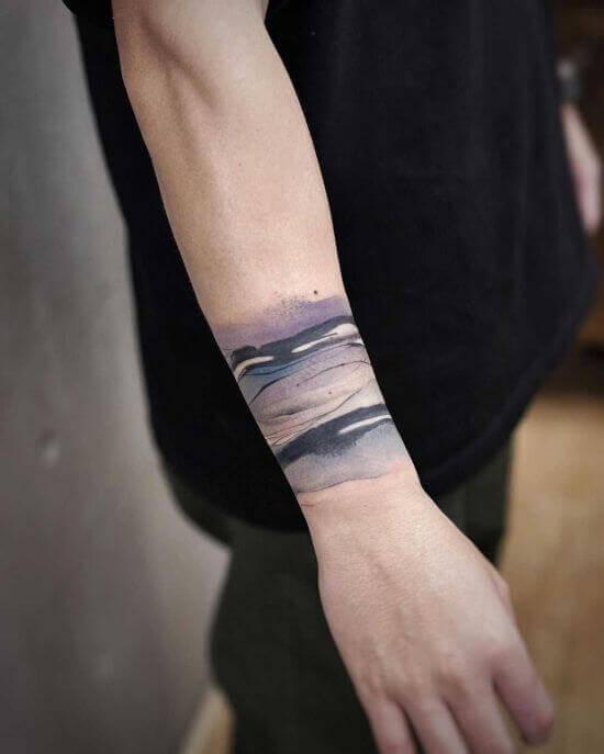 Hand Wave tattoo