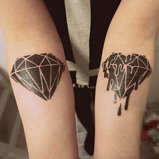 Melting Diamond Tattoo Designs