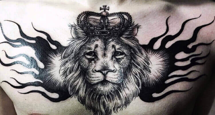 30 Best Lion With Crown Tattoo Designs
