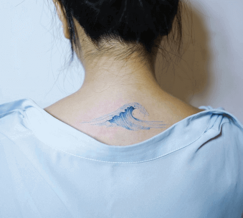Neck tattoo girl