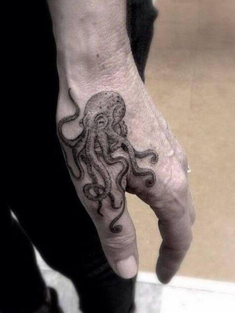Octopus Hand tattoo ideas