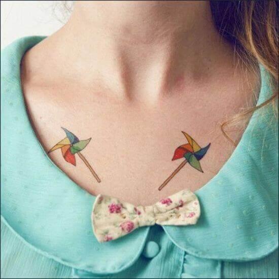 Pinwheel Tattoo Ideas for Girls
