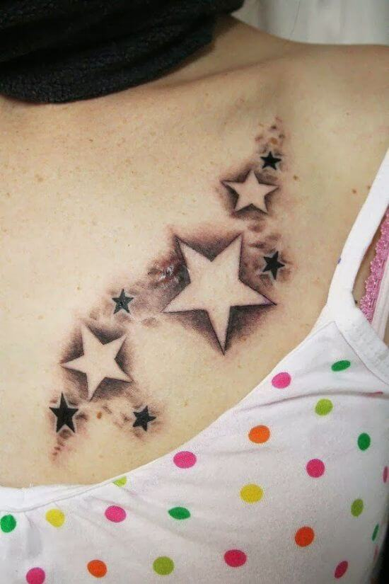 Small and Simple Twinkling Star Tattoo Girl