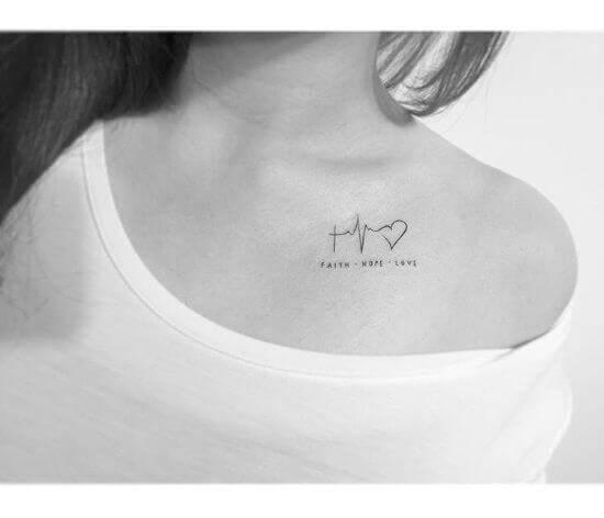 Small heartbeat tattoo girl ideas