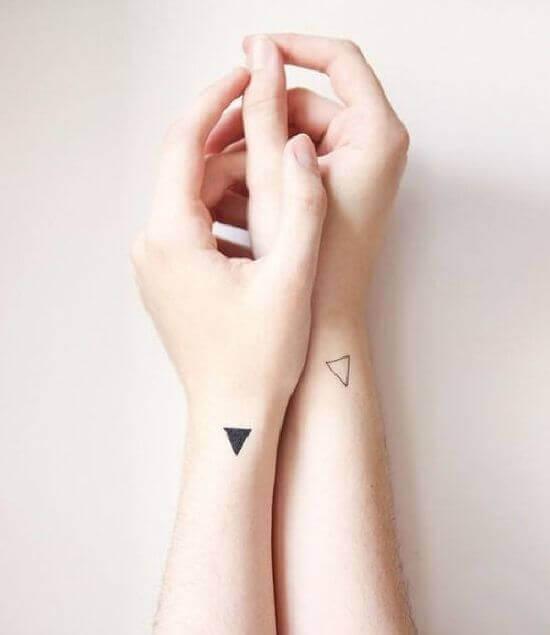 Small Triangle Tattoo on Arm