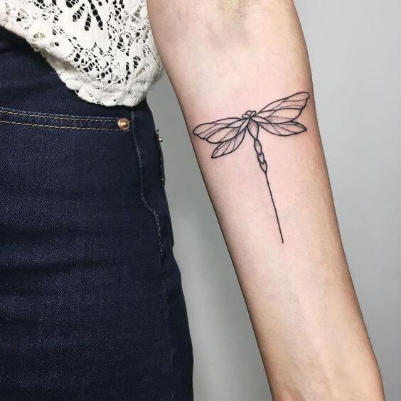 dragonfly women tattoo