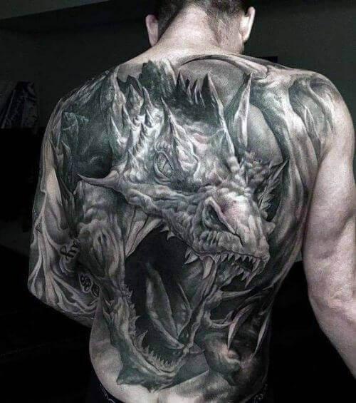 3D Back Tattoos for men